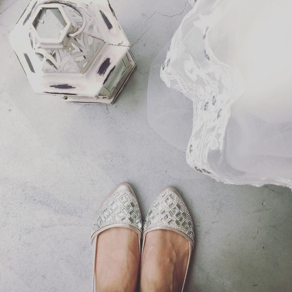 wedding shoes 婚鞋-訂婚鞋-設計師款-red velvet-華麗寶石平底鞋-低跟鞋 (22)