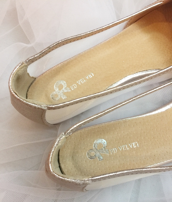 wedding shoes 婚鞋-訂婚鞋-設計師款-red velvet-華麗寶石平底鞋-低跟鞋 (35)