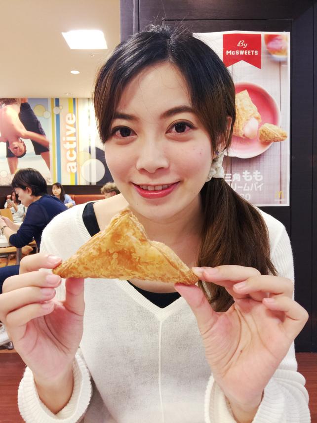 2016日本麥當勞萬聖節限定南瓜醬巧克力醬薯條+季節限定三角水蜜桃奶油派 (18)