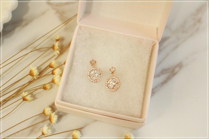 Mrs Yue 夾式耳環-垂墜式耳環-不過敏耳環-氣質施華洛世奇鑽耳環 (77)