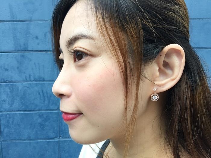 Mrs Yue 夾式耳環-垂墜式耳環-不過敏耳環-氣質施華洛世奇鑽耳環 (46)