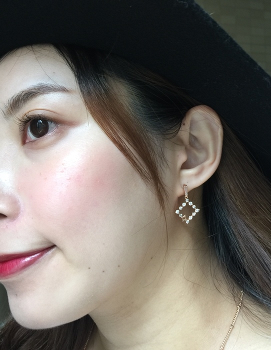 Mrs Yue 夾式耳環-垂墜式耳環-不過敏耳環-氣質施華洛世奇鑽耳環 (57)