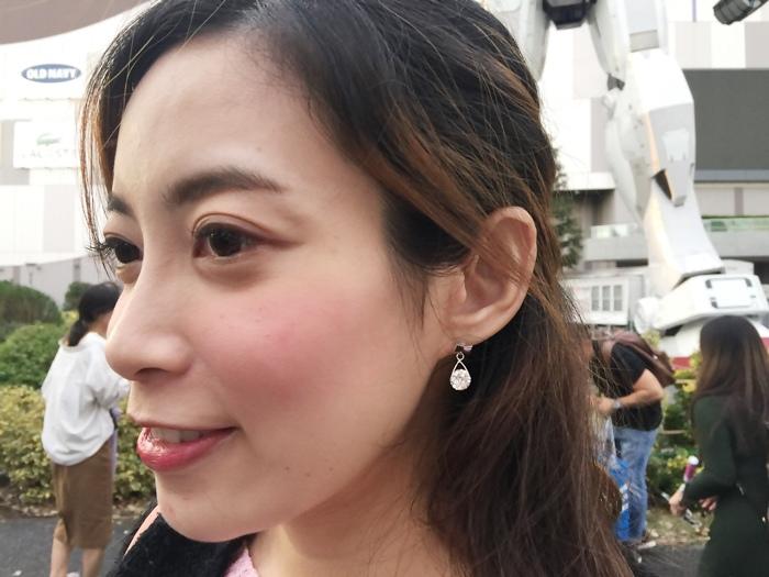 Mrs Yue 夾式耳環-垂墜式耳環-不過敏耳環-氣質施華洛世奇鑽耳環 (45)