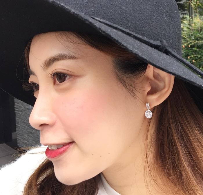 Mrs Yue 夾式耳環-垂墜式耳環-不過敏耳環-氣質施華洛世奇鑽耳環 (53)