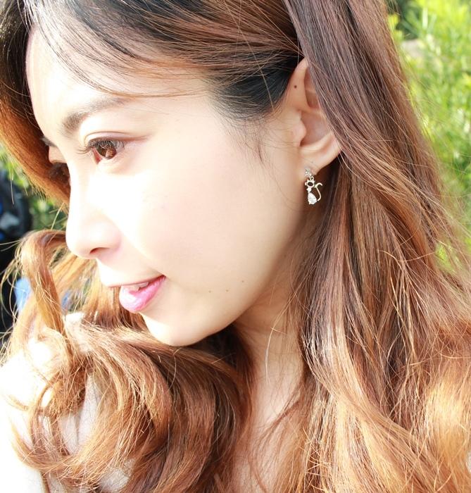 Mrs Yue 夾式耳環-垂墜式耳環-不過敏耳環-氣質施華洛世奇鑽耳環 (4)