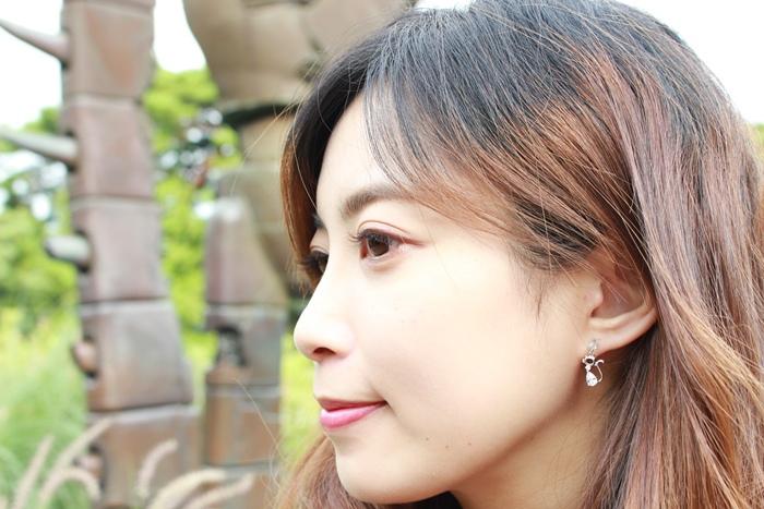 Mrs Yue 夾式耳環-垂墜式耳環-不過敏耳環-氣質施華洛世奇鑽耳環 (13)