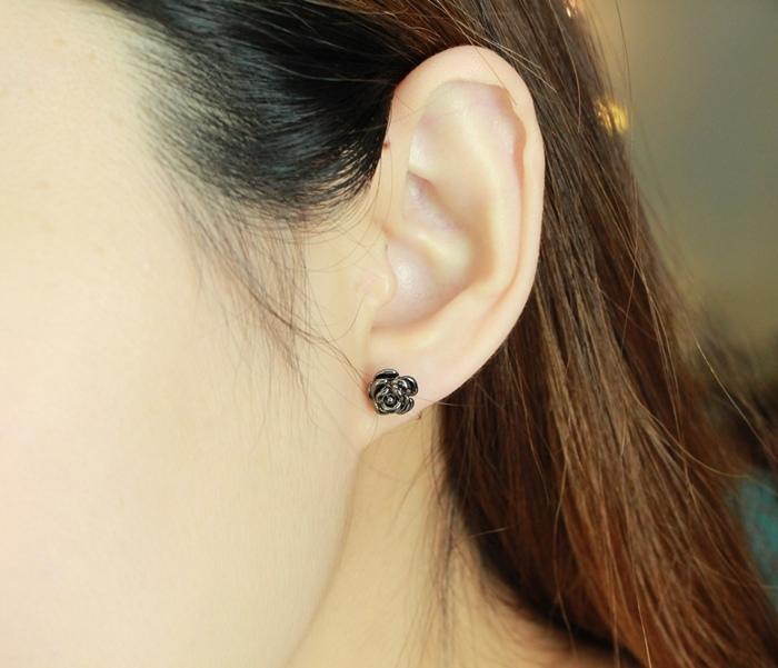 Mrs Yue 夾式耳環-垂墜式耳環-不過敏耳環-氣質施華洛世奇鑽耳環 (63)