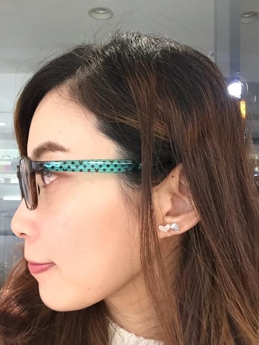 Mrs Yue 夾式耳環-垂墜式耳環-不過敏耳環-氣質施華洛世奇鑽耳環 (41)