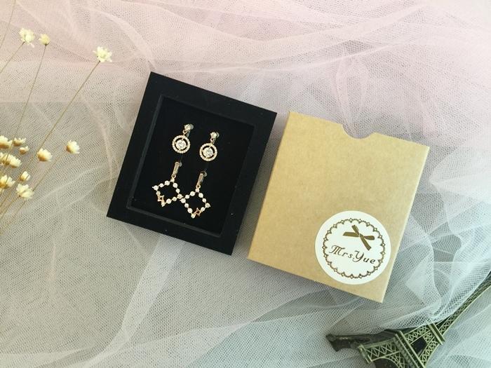 Mrs Yue 夾式耳環-垂墜式耳環-不過敏耳環-氣質施華洛世奇鑽耳環 (23)