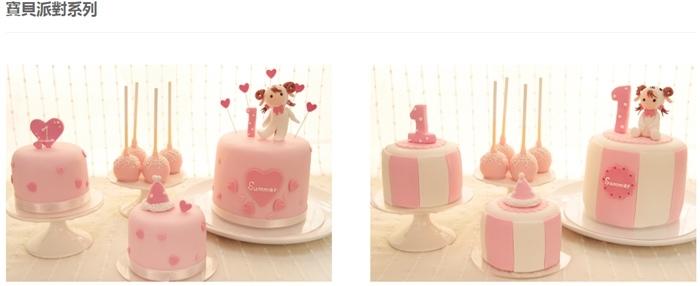 Candy Wedding-粉藍夢幻彌月蛋糕禮盒-小王子迷你派對組-甜心棒棒糖-經典乳酪蛋糕 (99111)