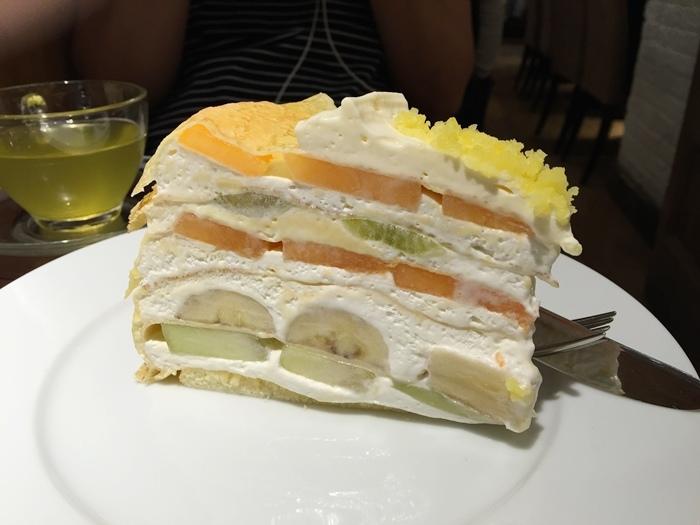 日本東京新宿LUMINE EST百貨B2F HARBS水果千層蛋糕mille crepe-卡士達栗子蛋糕Custard Marron Cake-超美味義大利麵-男生也無法抗拒 (146)