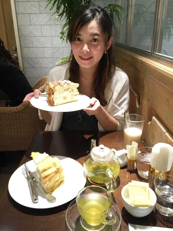 日本東京新宿LUMINE EST百貨B2F HARBS水果千層蛋糕mille crepe-卡士達栗子蛋糕Custard Marron Cake-超美味義大利麵-男生也無法抗拒 (161)