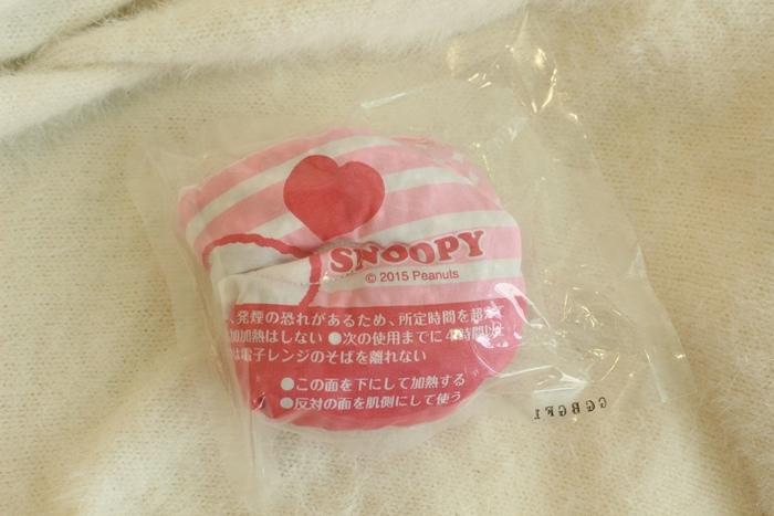 日本藥妝-snoopy可重複使用的蒸氣眼罩-發熱眼罩-微波爐加熱眼罩-紅豆眼罩 (9)