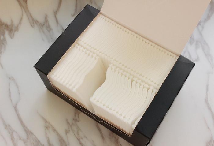 韓國3CE濕敷用多功能用途化妝棉 cotton puff-日本3coins買的華麗化妝棉收納盒 (5)