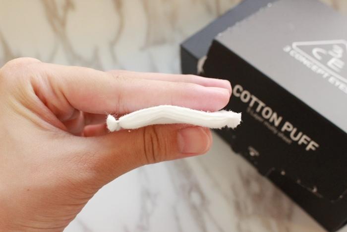韓國3CE濕敷用多功能用途化妝棉 cotton puff-日本3coins買的華麗化妝棉收納盒 (8)