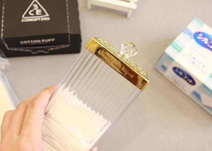 韓國3CE濕敷用多功能用途化妝棉 cotton puff-日本3coins買的華麗化妝棉收納盒 (30)