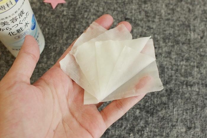 韓國3CE濕敷用多功能用途化妝棉 cotton puff-日本3coins買的華麗化妝棉收納盒 (16)