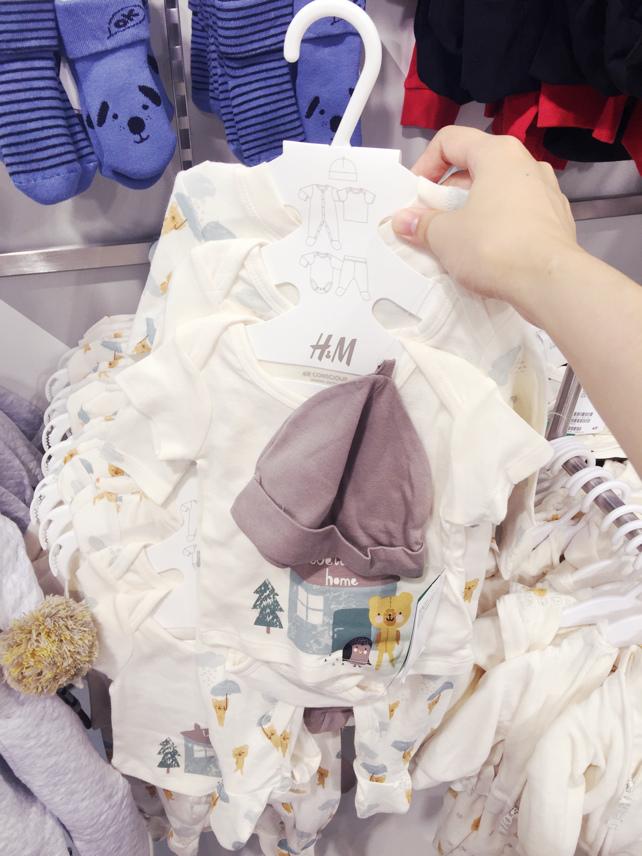 H&M 西門店亞洲最大旗艦店新開幕baby home 嬰兒服飾 洗澡包巾 浴巾 星星毯 (4)