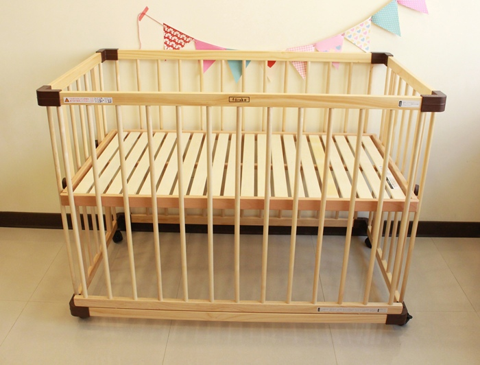 färska-日本farska嬰兒床-Bed side bed-親子共寢多功能嬰兒床-無印良品風日系風嬰兒床原木色系-透氣好眠可攜式床墊組-COMPACT BED (88)