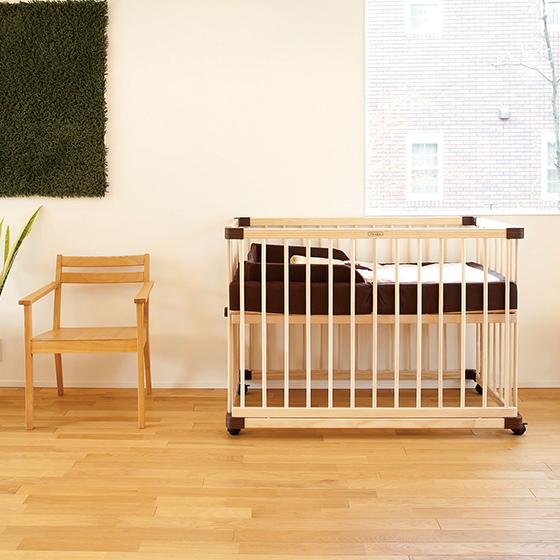 färska-日本farska嬰兒床-Bed side bed-親子共寢多功能嬰兒床-無印良品風日系風嬰兒床原木色系-透氣好眠可攜式床墊組-COMPACT BED (881)