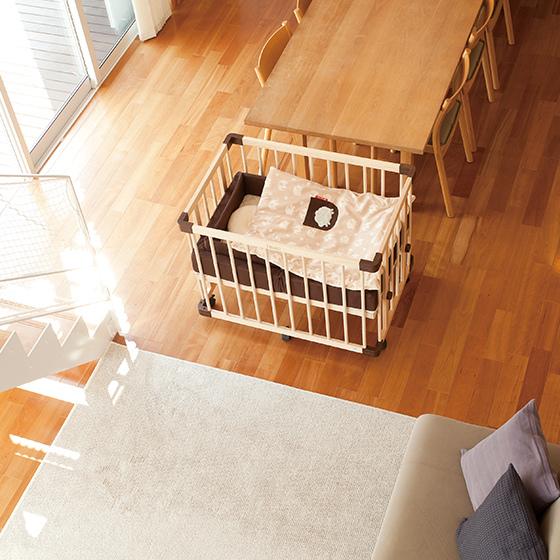 färska-日本farska嬰兒床-Bed side bed-親子共寢多功能嬰兒床-無印良品風日系風嬰兒床原木色系-透氣好眠可攜式床墊組-COMPACT BED (591)
