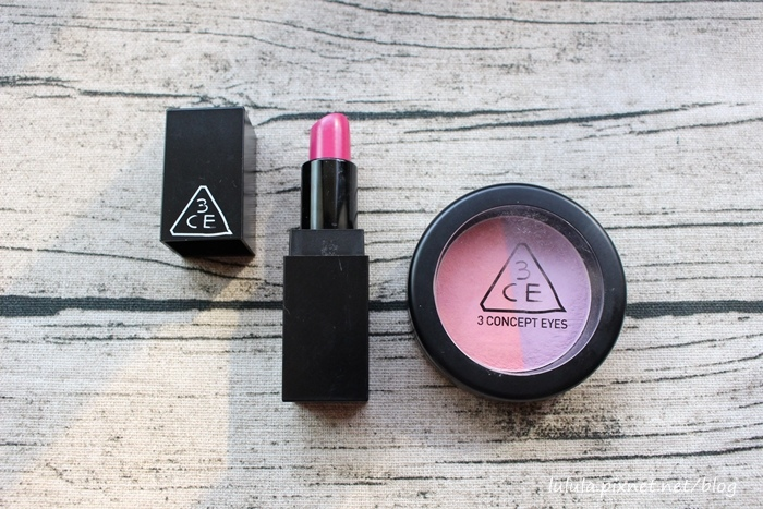 3CE彩妝-桃紅色口紅唇膏-雙色腮紅-粉色紫色腮紅-韓國戰利品-梨大 (24)