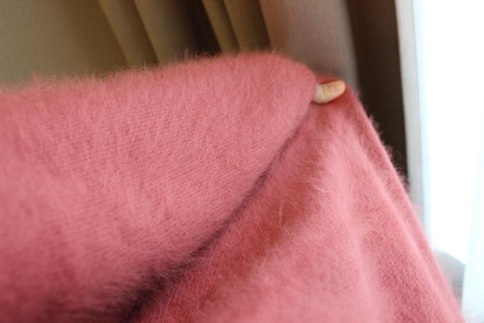 淘寶穿搭-毛衣-淘寶女裝GG House郭郭定制-毛衣裙寬鬆毛衣荷葉袖毛衣外套 (12)