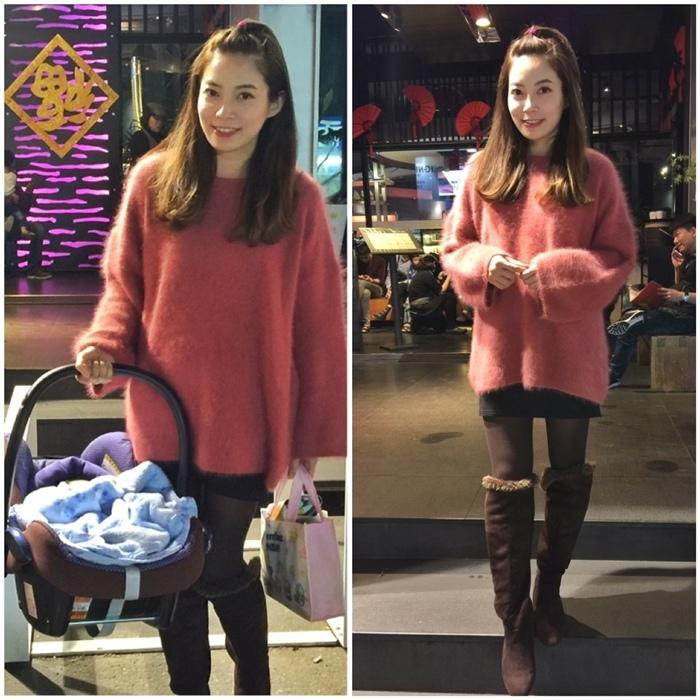 淘寶穿搭-毛衣-淘寶女裝GG House郭郭定制-毛衣裙寬鬆毛衣荷葉袖毛衣外套 (25)