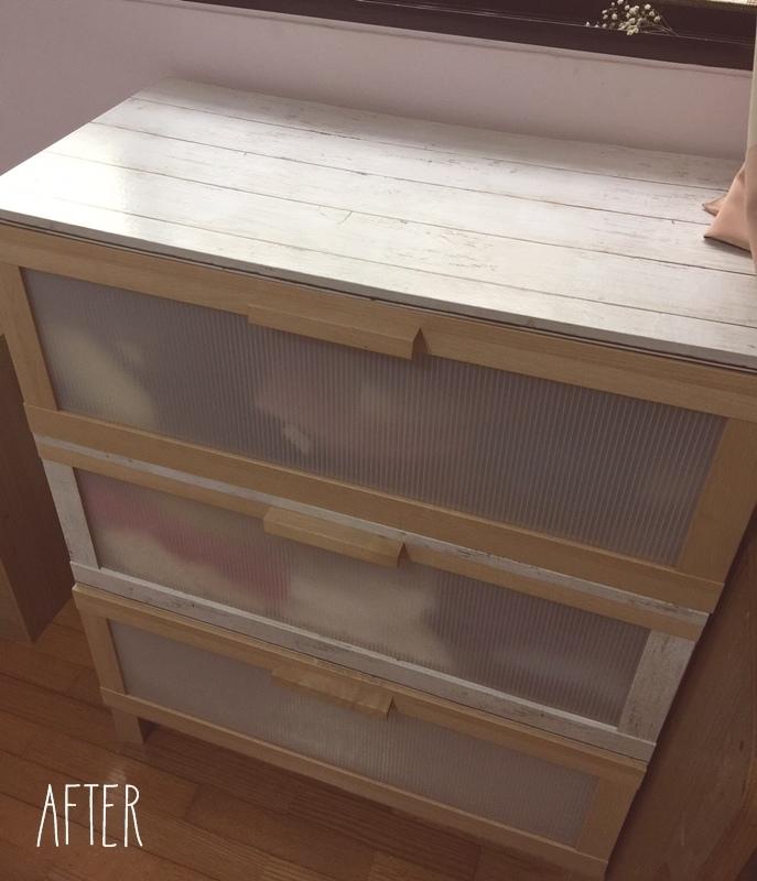 大創木紋貼皮-木板牆面裝飾貼-改造IKEA醜醜的衣櫃 (5)