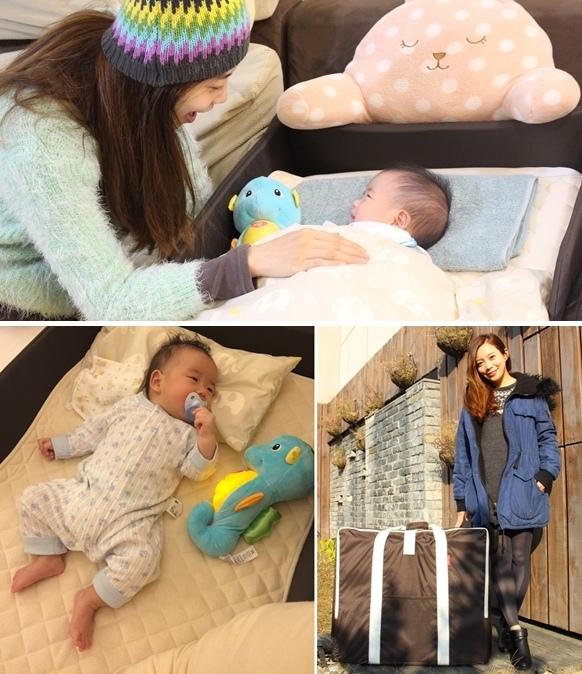 日本farska嬰兒床墊-compact bed series 透氣好眠可攜式床墊組 (1001)