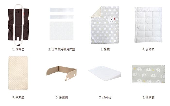 日本farska嬰兒床墊-compact bed series 透氣好眠可攜式床墊組 (1002)