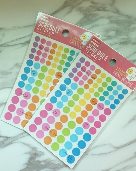 大創文具-Daiso-文青螢光筆-三角形口紅膠-手帳圓點貼紙-北極熊索引貼-黑板膠-三色粉筆 (12)