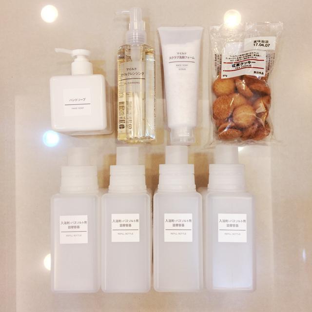 斷捨離與無印良品風的收納日常-morning cleaning-小蘇打粉與檸檬酸的收納-MUJI無印良品入浴劑補充瓶-IG風的主婦收納-梳妝台收納-保養品收納-彩妝品收納-大創PP盒 (5)