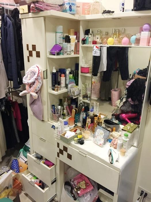 斷捨離與無印良品風的收納日常-morning cleaning-小蘇打粉與檸檬酸的收納-MUJI無印良品入浴劑補充瓶-IG風的主婦收納-梳妝台收納-保養品收納-彩妝品收納-大創PP盒 (2)