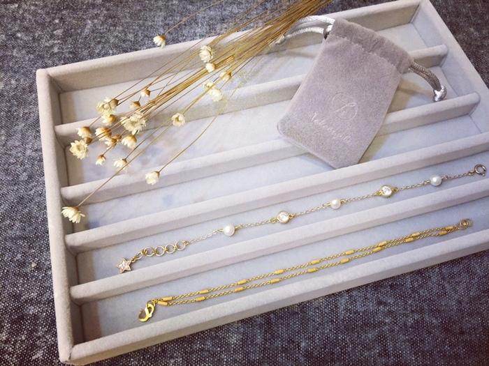MUJI 無印良品買物-壓克力飾品收納盒-壓克力盒用灰絨內盒-灰絨布項鍊收納盒-飾品盤 (9)