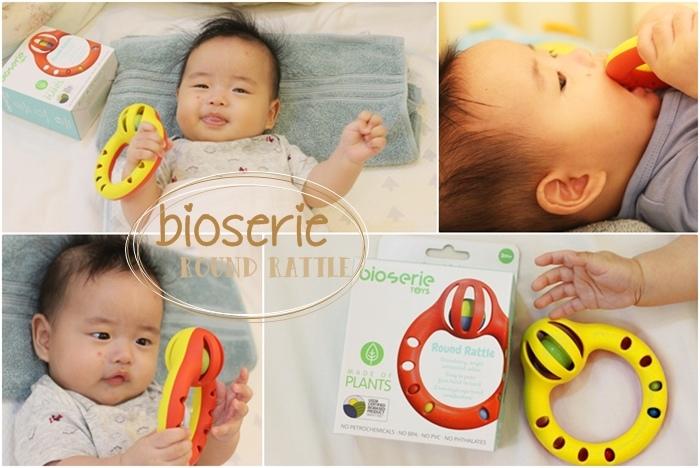 bioserie 小小鈴鼓手搖鈴 嬰兒搖鈴玩具 訓練手部肌肉 辨別顏色 聲音玩具 鈴鐺 四個月嬰兒玩具 round rattle (6)