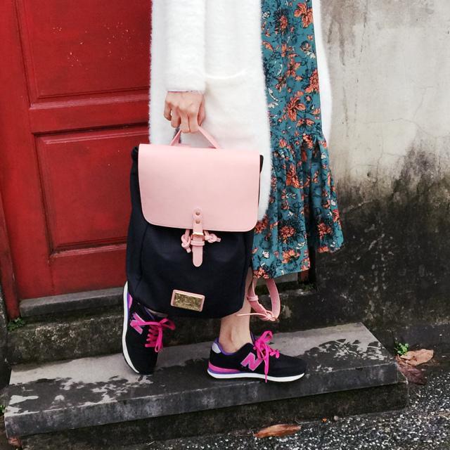 Gaston Luga Backpacks 瑞典設計師 後背包 粉紅色皮革後背包 折扣碼lulula 15%折扣 LululaSu15 (3)