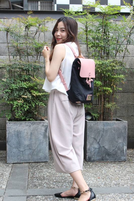 Gaston Luga Backpacks 瑞典設計師 後背包 粉紅色皮革後背包 折扣碼lulula 15%折扣 LululaSu15 (6)