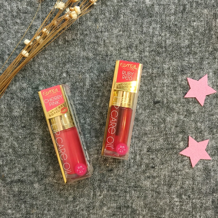 EXCEL Lip Care Oil 美容唇油-ruby red cherry pink LO01 LO02 試色 日本藥妝戰利品 EXCEL唇蜜-滋潤不黏膩 (5)