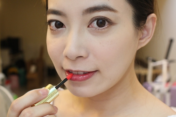 EXCEL Lip Care Oil 美容唇油-ruby red cherry pink LO01 LO02 試色 日本藥妝戰利品 EXCEL唇蜜-滋潤不黏膩 (8)