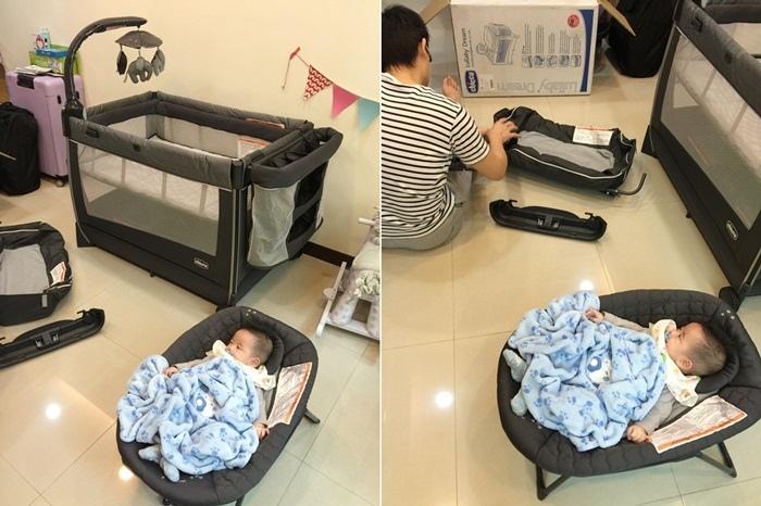 Chicco Lullaby Dream多功能豪華遊戲床-翻滾嬰兒的救星 (99111)