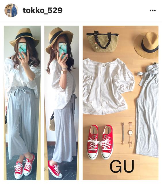 我追蹤的日本主婦IG穿搭-Uniqlo GU 每日穿搭 Instagram Instagramer(30)