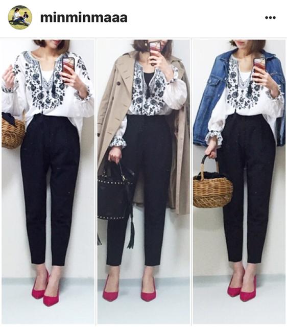 我追蹤的日本主婦IG穿搭-Uniqlo GU 每日穿搭 Instagram Instagramer(52)