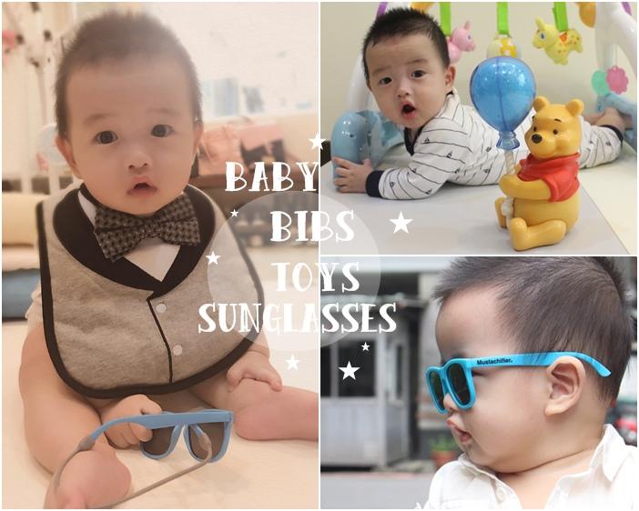 迪士尼維尼星空投影音樂鈴 franchie 小紳士領帶領結圍兜口水巾 寶寶太陽眼鏡