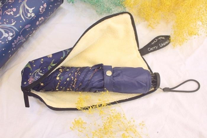 Carry Umbrella 折傘三折傘摺疊傘輕量折傘碳纖維雨傘140g超輕折傘MOOSE碳纖折傘星夜風鈴 (109)