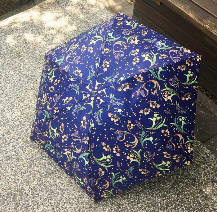 Carry Umbrella 折傘三折傘摺疊傘輕量折傘碳纖維雨傘140g超輕折傘MOOSE碳纖折傘星夜風鈴 (91)