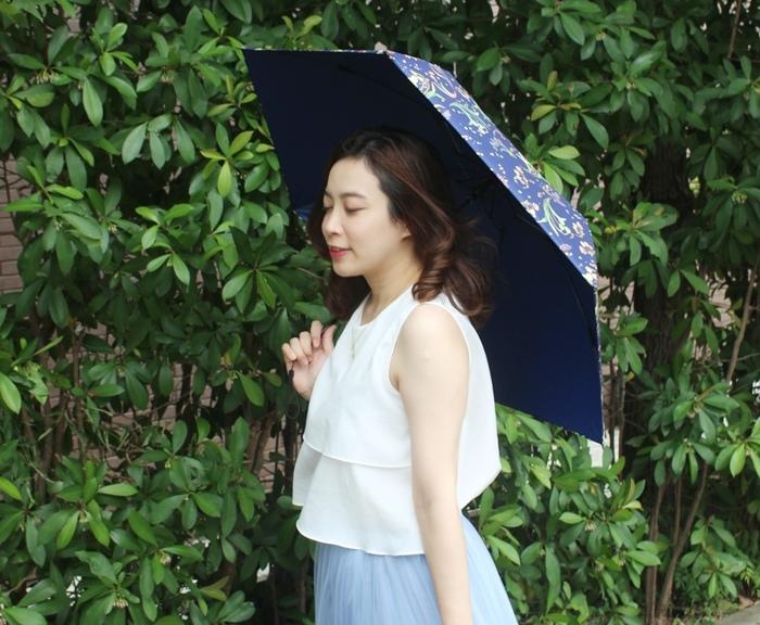 Carry Umbrella 折傘三折傘摺疊傘輕量折傘碳纖維雨傘140g超輕折傘MOOSE碳纖折傘星夜風鈴 (138)