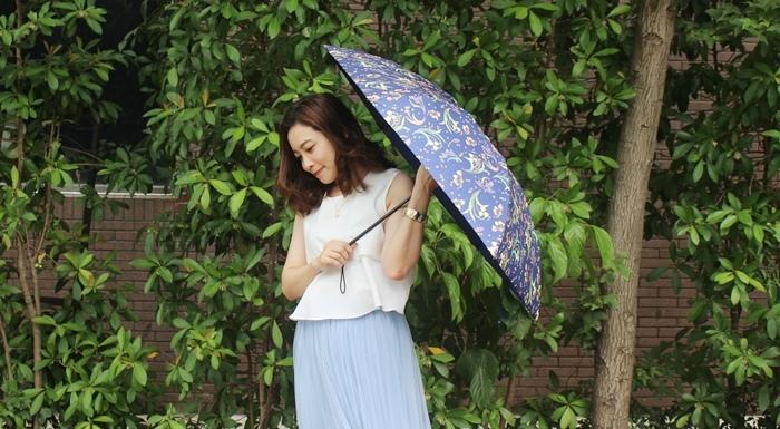 Carry Umbrella 折傘三折傘摺疊傘輕量折傘碳纖維雨傘140g超輕折傘MOOSE碳纖折傘星夜風鈴 (159)