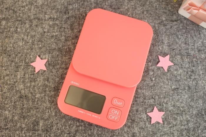 dretec 廚房電子秤-食物量秤-日本BIC CAMERA戰利品-粉紅色廚房量秤-料理秤-烘培用 (92)
