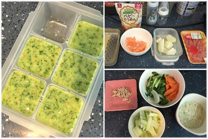 副食品食譜-豬肉白菜紅蘿蔔麵 (1123)